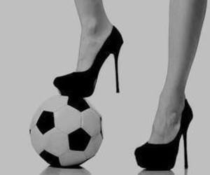 football, girl, and heels image