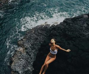 beach, body, and ocean image