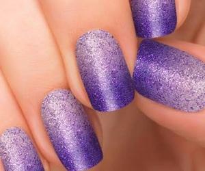 glitter, nails, and purple image