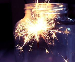 light, fireworks, and jar image