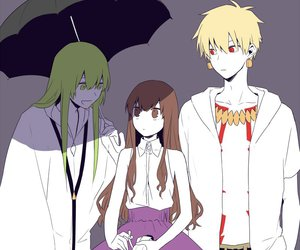 gilgamesh, enkidu, and fate extra image