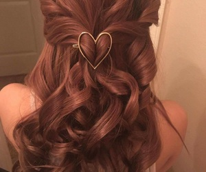 curls, girl, and hair image