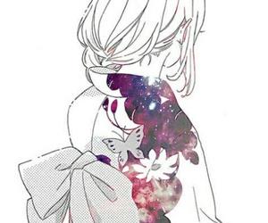 manga, girl, and kimono image
