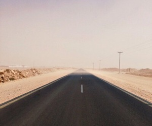 road, aesthetic, and desert image
