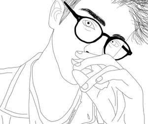 boy, outline, and tumblr image