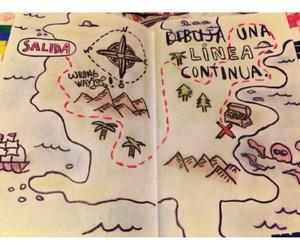 dibujo, mapa, and line image