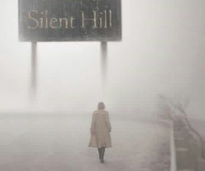 silent hill, black and white, and horror image
