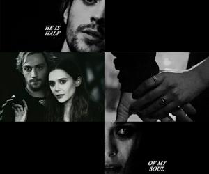 black and white, Marvel, and wanda image