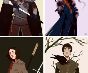 game of thrones, stark, and bran image