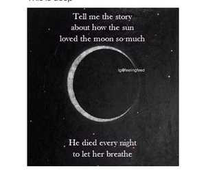 breath, loves, and moon image