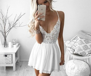cool, white, and dress image