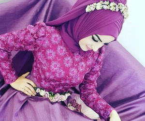 muslim, hijab, and bride image