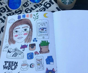 art journal, grunge, and pale image