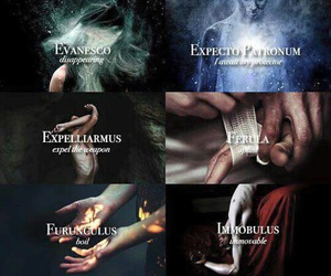 harry potter, spell, and magic image