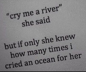 alone, cry, and river image