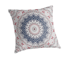 cushion, red white blue, and home decor image