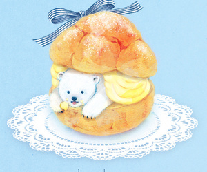 art, bear, and cake image