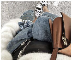 converse, fashion, and leather image