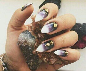crystal, nails, and purple image