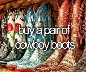 boots, cowboy, and shoes image
