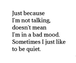 quiet, quotes, and bad mood image