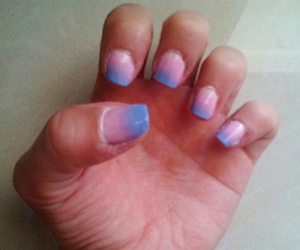pink ombre nails image