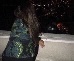 girl, dark, and night image