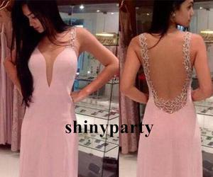 backless, chiffon, and dress image