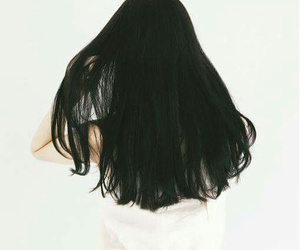 hair, girl, and black image
