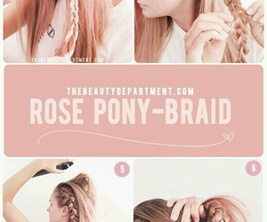 braid, hairstyle, and pony tail image