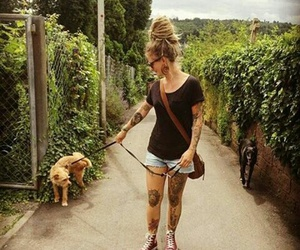 dog, hippie, and rasta image