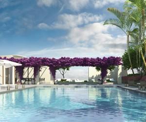 luxury, pool, and purple image