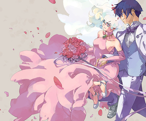anime, anime girl, and bouquets image