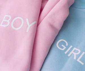girl, pink, and boy image