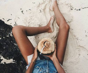 beach, summer, and legs image