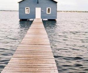 sea, blue, and house image