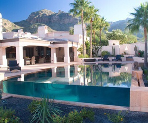 luxury, pool, and home image