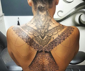 art, back tattoo, and mandela image