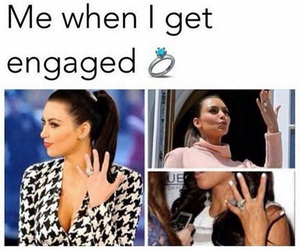 engaged, kim kardashian, and funny image