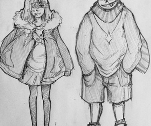couple, undertale, and drawing image