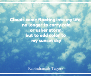 clouds, quotes, and rabindranath tagore image