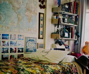 room, bedroom, and vintage image