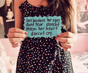 cry, quote, and heart image