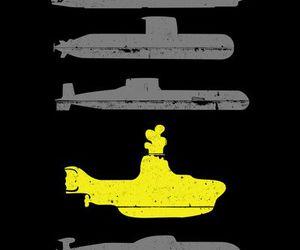 yellow submarine, submarine, and the beatles image