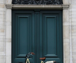 door, bike, and vintage image