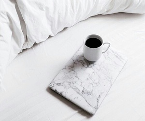 coffee, white, and marble image
