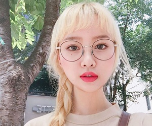 asian, blond, and girl image