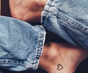 tattoo, heart, and jeans image