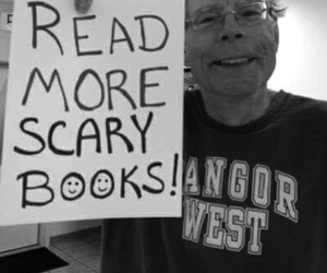 Stephen King, book, and horror image
