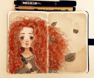 brave, disney, and art image